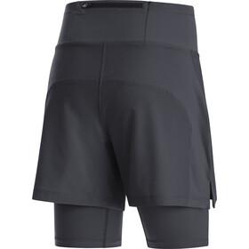 GORE WEAR R5 2en1 Shorts Mujer, negro
